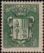 Andorra-French 1942 Coat of arms of Andorra c