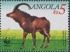 Angola 1990 WWF - Giant Sable Antelope a