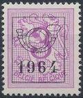 Belgium 1964 Heraldic Lion with Precancellations b