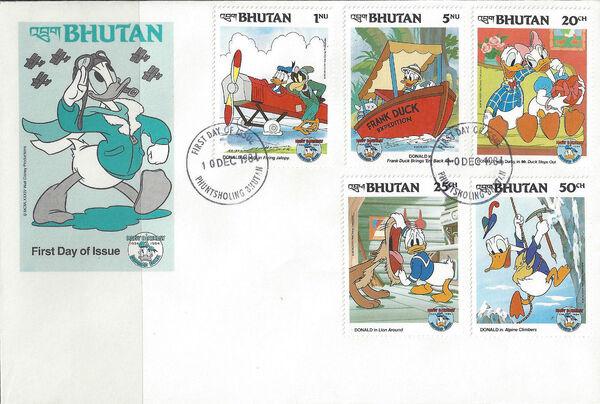 Bhutan 1984 50th Anniversary of Donald Duck k