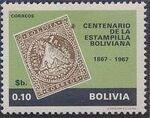 Bolivia 1968 Centenary of Bolivian Postage Stamps a