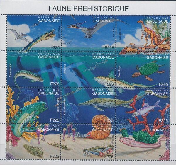Gabon 1995 Prehistoric Wildlife Sb