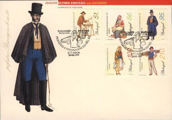 Portugal 1999 Professions and Characters from XIX Century (5th Group) m