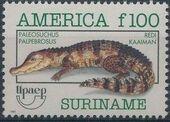 Surinam 1993 Endangered Animals - Cuvier's Dwarf Caiman b