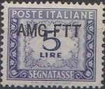Trieste-Zone A 1949 Postage Due Stamps of Italy 1947-1954 Overprinted c