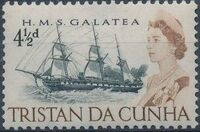 Tristan da Cunha 1965 Queen Elizabeth II and Ships f