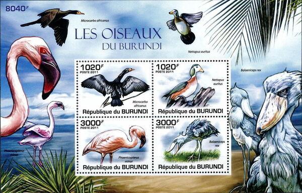 Burundi 2011 Birds of Burundi MSa