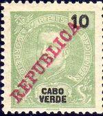 Cape Verde 1911 D. Carlos I Overprinted c