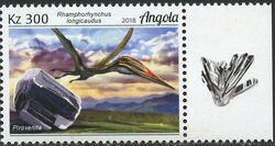 Angola 2018 Wildlife of Angola - Dinosaurs and Minerals c