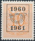 Belgium 1960 Heraldic Lion with Precanceled Number d