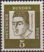 Germany, Federal Republic 1961 Famous Germans a
