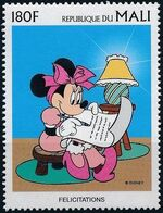 Mali 1997 Greetings Stamps - Walt Disney Characters e