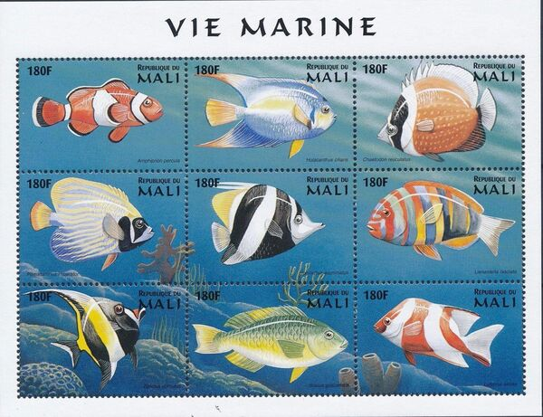 Mali 1997 Marine Life zp