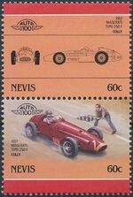 Nevis 1986 Leaders of the World - Auto 100 (5nd Group) b