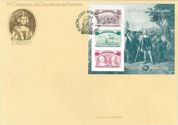 Portugal 1992 EUROPA - 5th Centenary of Discovery of America FDCd