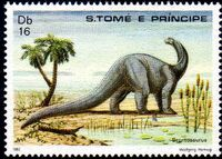 St Thomas and Prince 1982 Dinosaurs e