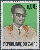 Zaire 1973 President Joseph Desiré Mobutu d
