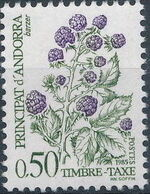 Andorra-French 1985 Flowers (Postage Due Stamps) e