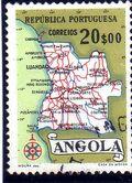 Angola 1955 Map of Angola h