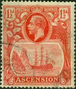 Ascension 1924 Seal of the Colony ca