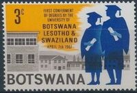 Botswana 1967 1st Conferment of Degrees by the University of Botswana a