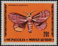 Mongolia 1977 Butterflies and Moths b