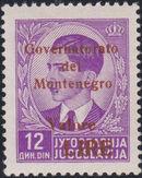 Montenegro 1941 Yugoslavia Stamps Surcharged under Italian Occupation q