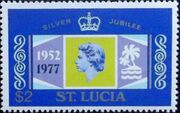 St Lucia 1977 25th Anniversary of the Reign of Elizabeth II d