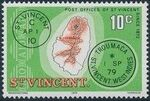 St Vincent 1979 Cancellations and Location of Village h