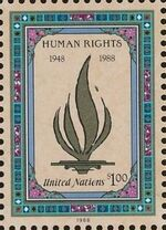 United Nations-New York 1988 40th Anniversary of Declaration of Human Rights a
