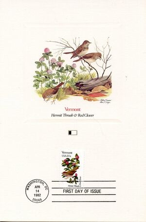 United States of America 1982 State birds and flowers FOLe9
