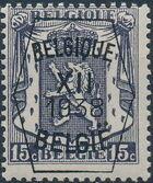 Belgium 1938 Coat of Arms - Precancel (12th Group) a