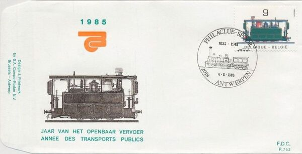 Belgium 1985 Public Transportation Year FDCA1