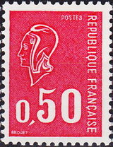 France 1971 Marianne de Béquet (1st Issue) a