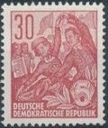 Germany DDR 1953 Workers For The Five-year Plan l