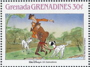 Grenada Grenadines 1988 The Disney Animal Stories in Postage Stamps 3a
