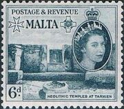 Malta 1956 Elizabeth II i