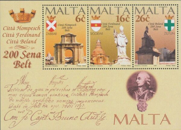 Malta 1997 Maltese City Anniversaries d