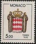 Monaco 1985 National Coat of Arms - Postage Due Stamps (1st Group) h