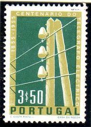 Portugal 1955 Centenary of Electric Telegraph System in Portugal c
