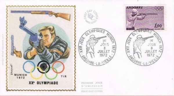Andorra-French 1972 20th Olympic Games, Munich FDCa