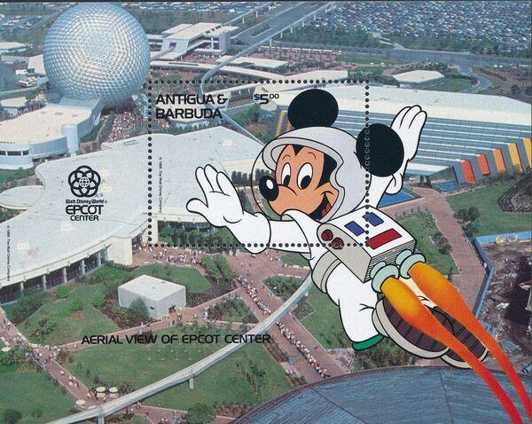 Antigua and Barbuda 1988 Disney - EPCOT Centre - Orlando Florida g