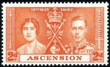 Ascension 1937 George VI Coronation b