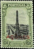 Azores 1926 1st Independence Issue Overprinted q