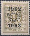 Belgium 1962 Heraldic Lion with Precancellations g