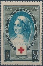 France 1939 75th Anniversary of the International Red Cross Society a