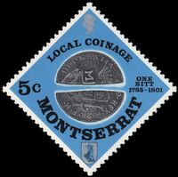 Montserrat 1975 Old Local Coinage (1785-1801) a