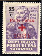 Portugal 1931 Red Cross - 400th Birth Anniversary of Camões a