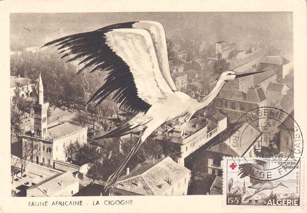 Algeria 1957 Red Cross MCd