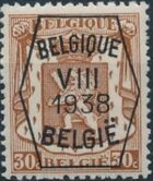 Belgium 1938 Coat of Arms - Precancel (8th Group) d